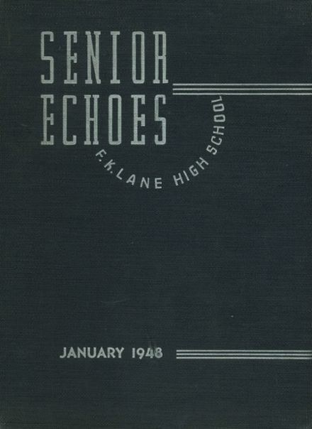 1948 Franklin K. Lane High School Yearbook Cover