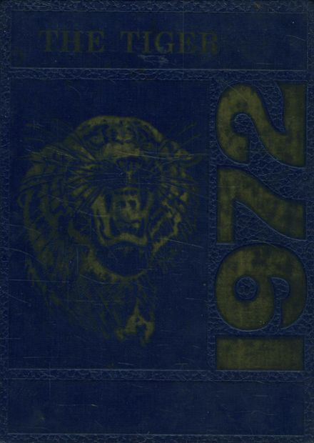 1972 Manassas High School Yearbook Cover