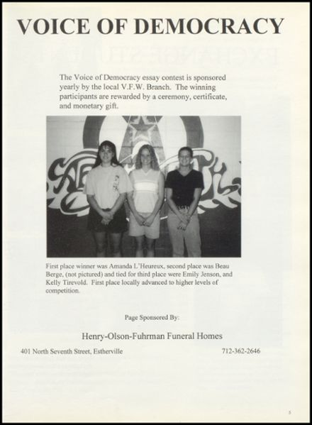 1998 Lincoln Central High School Yearbook Page 9