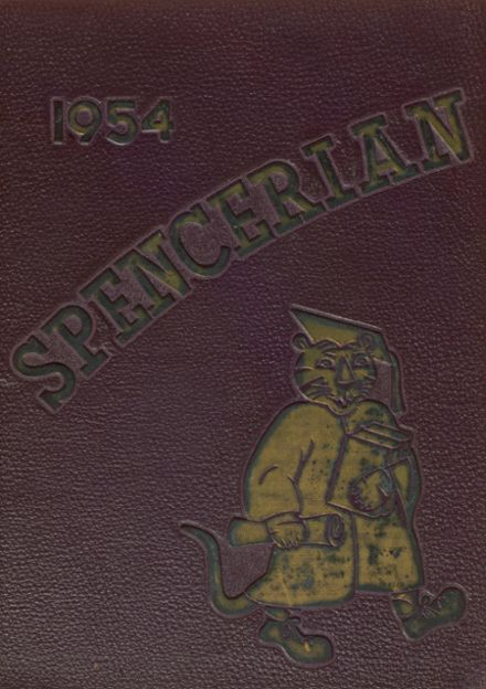 1954 Spencer High School Yearbook Cover