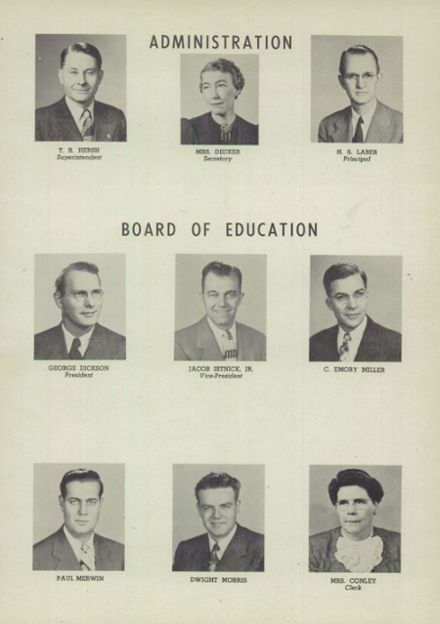1949 East Palestine High School Yearbook Page 5