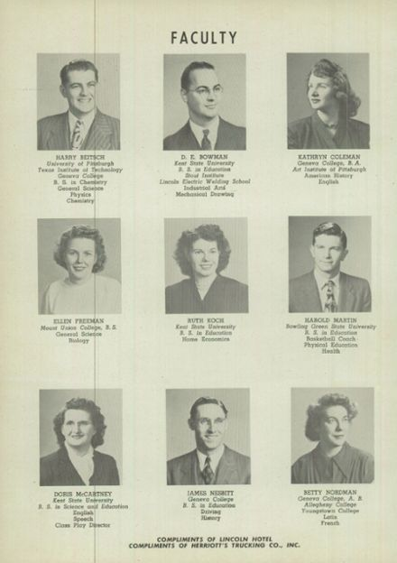 1949 East Palestine High School Yearbook Page 6