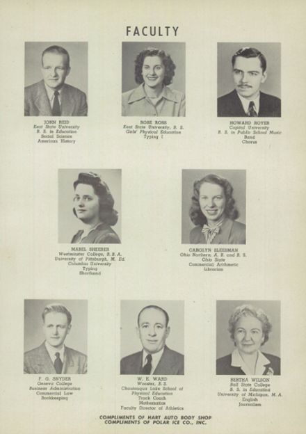 1949 East Palestine High School Yearbook Page 7