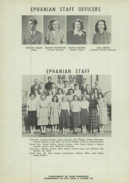 1949 East Palestine High School Yearbook Page 8