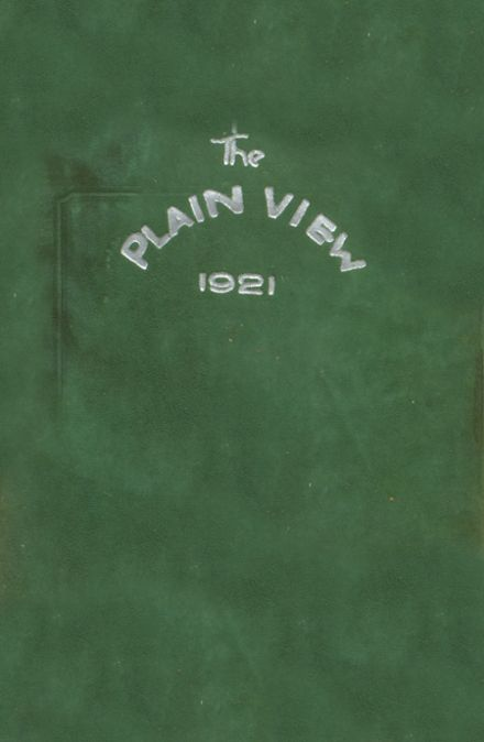 1921 Plainview High School Yearbook Cover