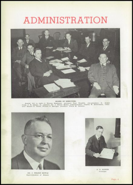 1941 Uniontown High School Yearbook Page 8