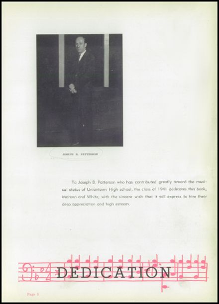 1941 Uniontown High School Yearbook Page 9