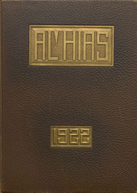 1922 Central High School Yearbook Cover