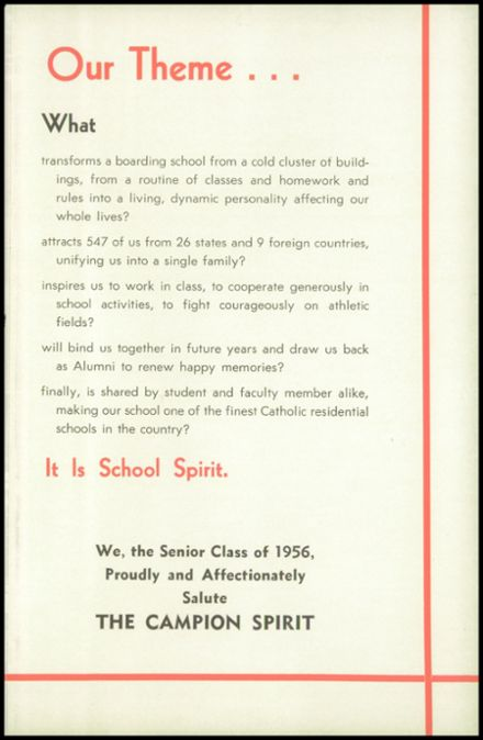 1956 Campion Jesuit High School Yearbook Page 9
