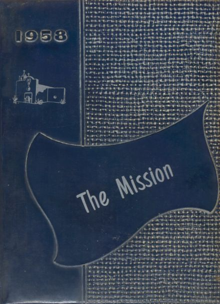1958 Goliad High School Yearbook Cover