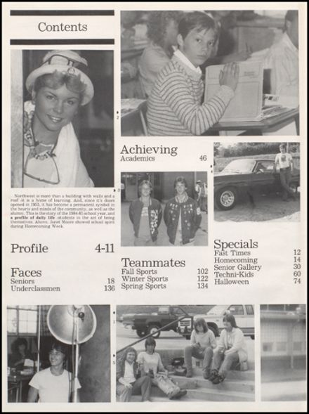 1985 Northwest High School Yearbook Page 8