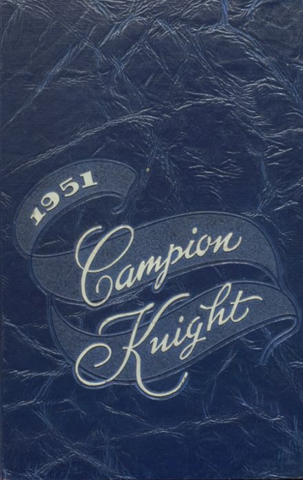 1951 Campion Jesuit High School Yearbook Cover