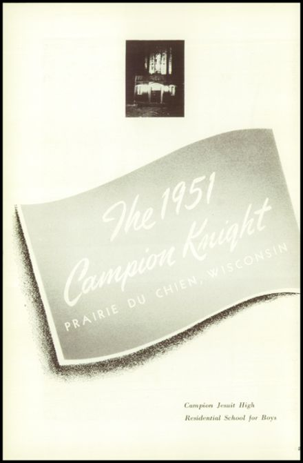 1951 Campion Jesuit High School Yearbook Page 6