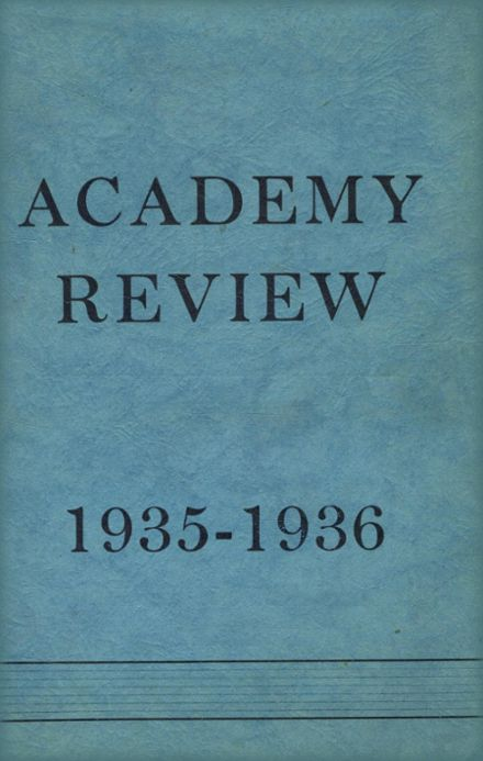 1936 Foxcroft Academy Yearbook Cover