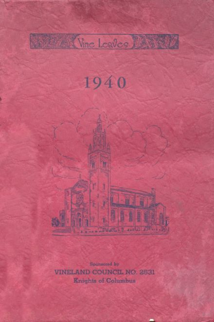 1940 Sacred Heart High School Yearbook Cover