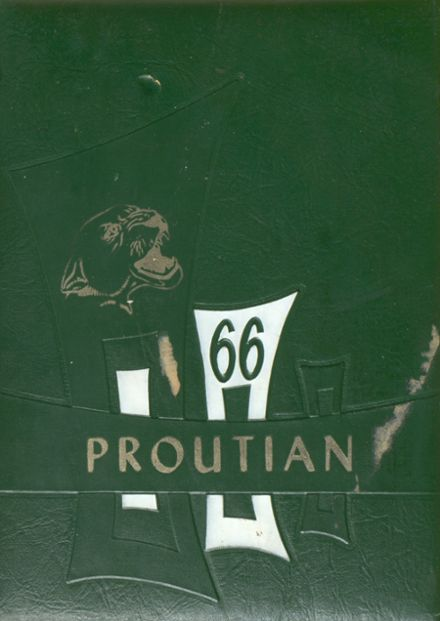 1966 Prouty Regional High School Yearbook Cover