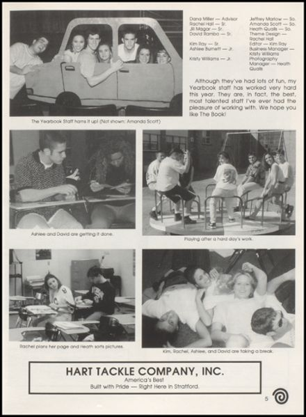 1996 Stratford High School Yearbook Page 9