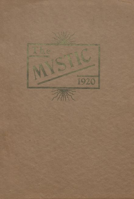 1920 Cameron High School Yearbook Cover