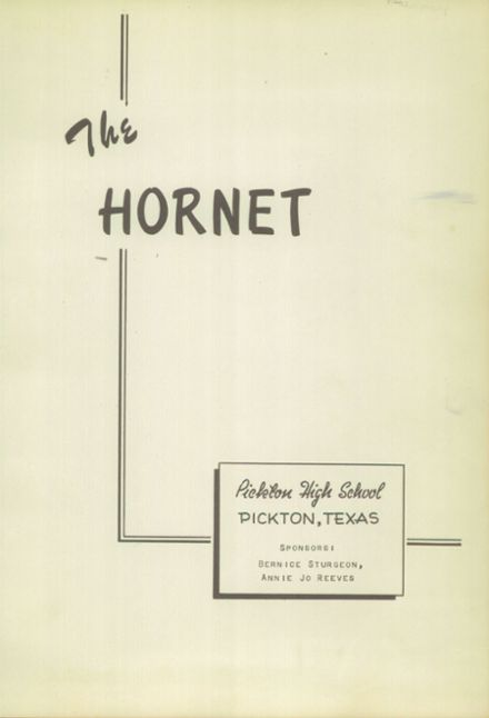 1951 Pickton High School Yearbook Page 7