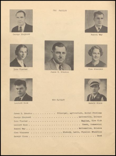 1938 Rib Lake High School Yearbook Page 6