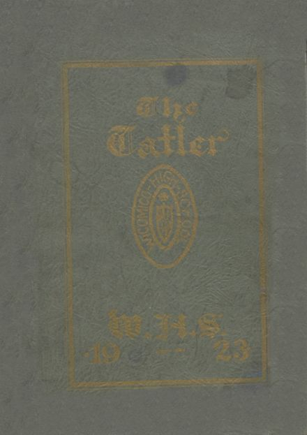 1923 Wicomico High School Yearbook Cover