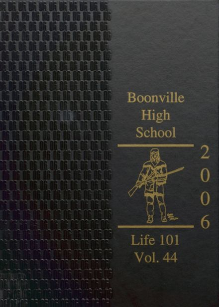 2006 Boonville High School Yearbook Cover