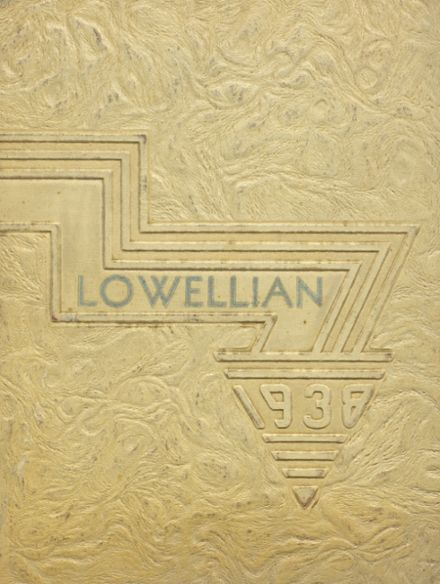 1938 Lowell High School Yearbook Cover
