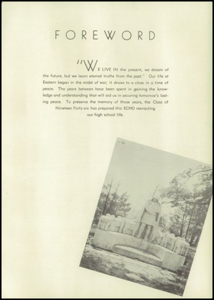 1946 Eastern High School Yearbook Page 9