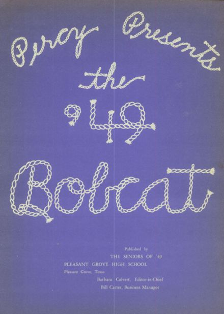 1949 Pleasant Grove High School Yearbook Page 9