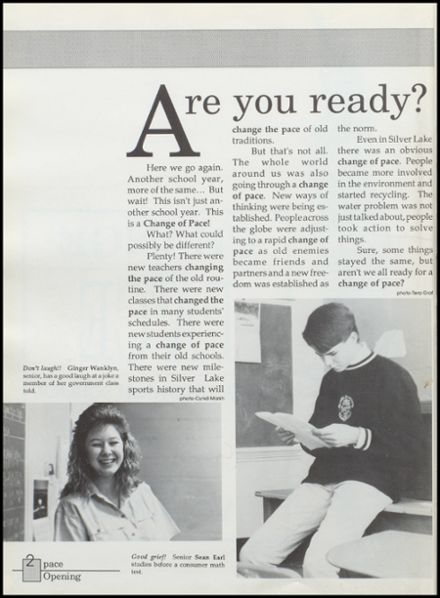 1990 Silver Lake High School Yearbook Page 6