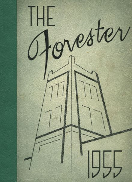 1955 Forest Park High School 406 Yearbook Cover
