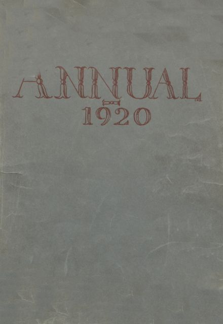 1920 Beaver Area High School Yearbook Cover