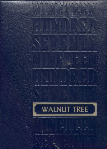 1970 Walnut Community High School Yearbook Cover