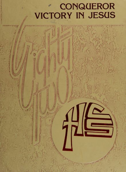 1982 Heritage Christian High School Yearbook Cover