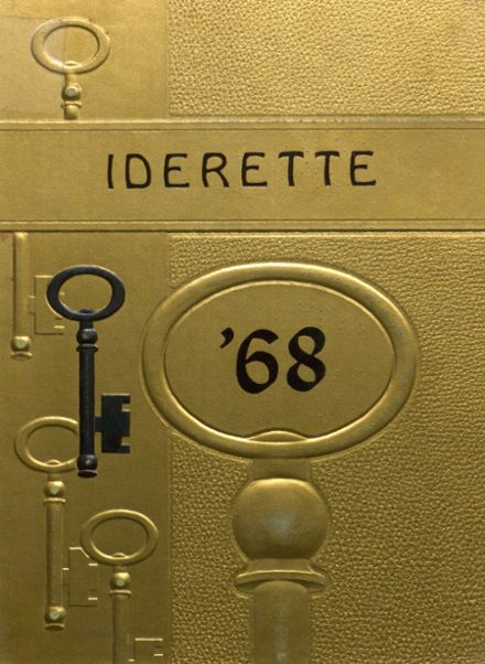 1968 Ider High School Yearbook Cover