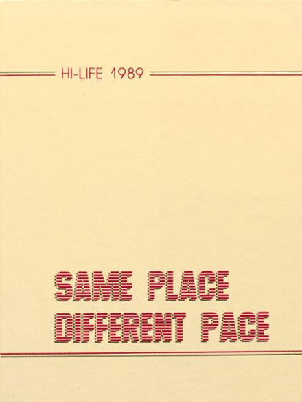 1989 Greenville High School Yearbook Cover
