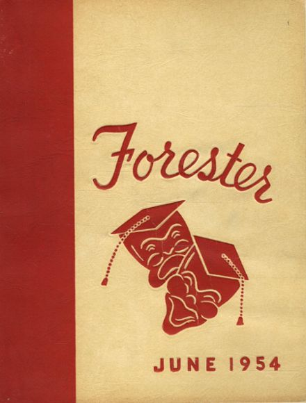 1954 Forest Park High School 406 Yearbook Cover