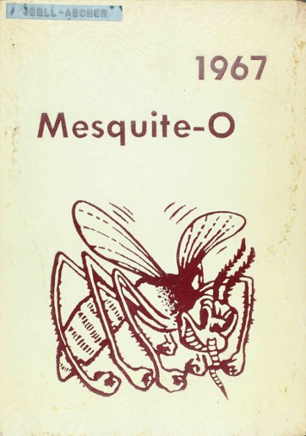 1967 Mesquite High School Yearbook Cover