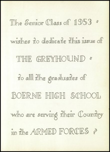 1953 Boerne High School Yearbook Page 9