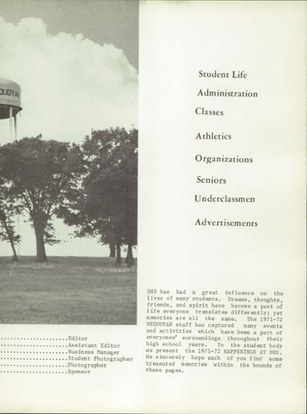 1972 Sequoyah High School Yearbook Page 5