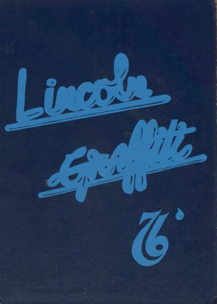 1976 Lincoln Community High School Yearbook Cover