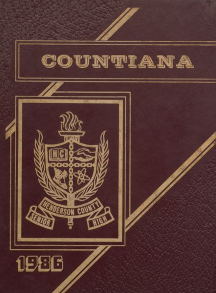 1986 Henderson County High School Yearbook Cover