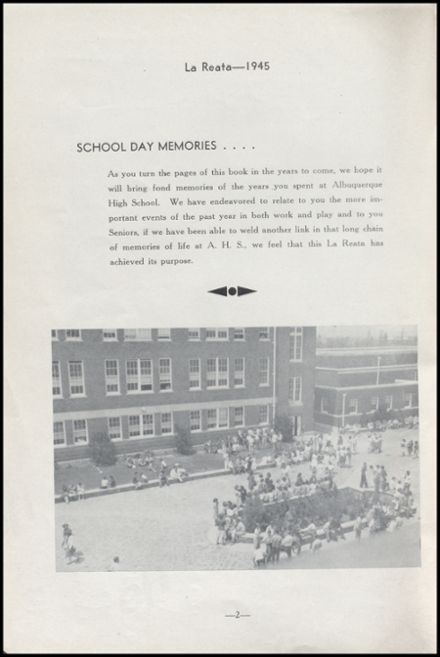 1945 Albuquerque High School Yearbook Page 4