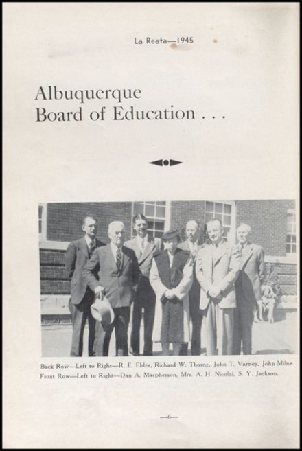 1945 Albuquerque High School Yearbook Page 8