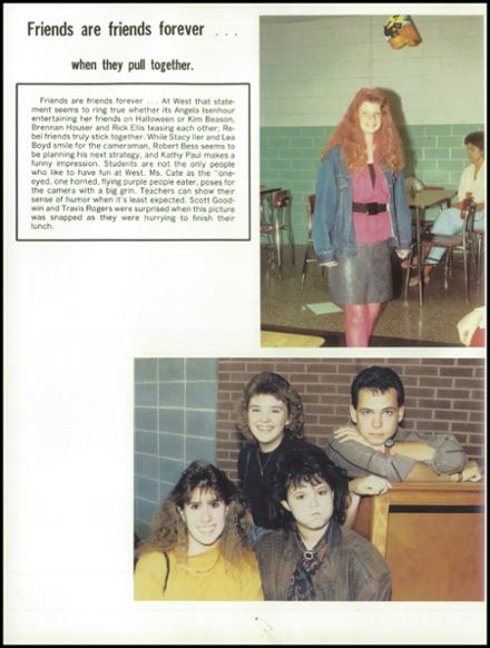 1990 West Lincoln High School Yearbook Page 8