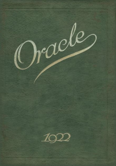 1922 Jackson High School Yearbook Cover