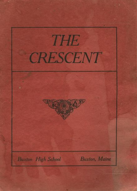 1912 Buxton High School Yearbook Cover