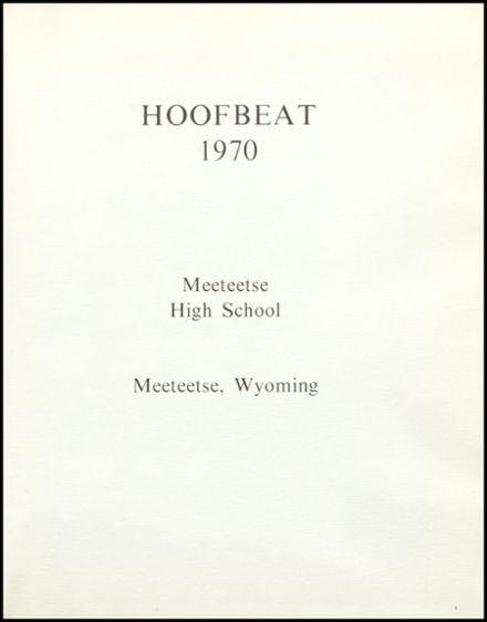 1970 Meeteetse High School Yearbook Page 5