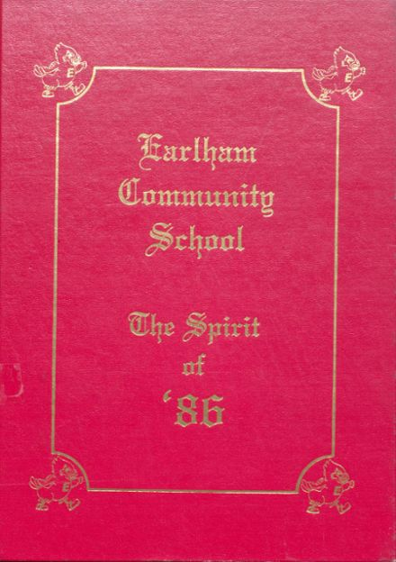 1986 Earlham High School Yearbook Cover