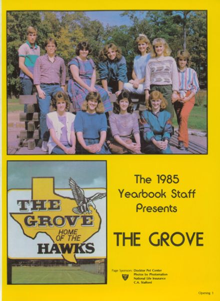 1985 Pleasant Grove High School Yearbook Page 5